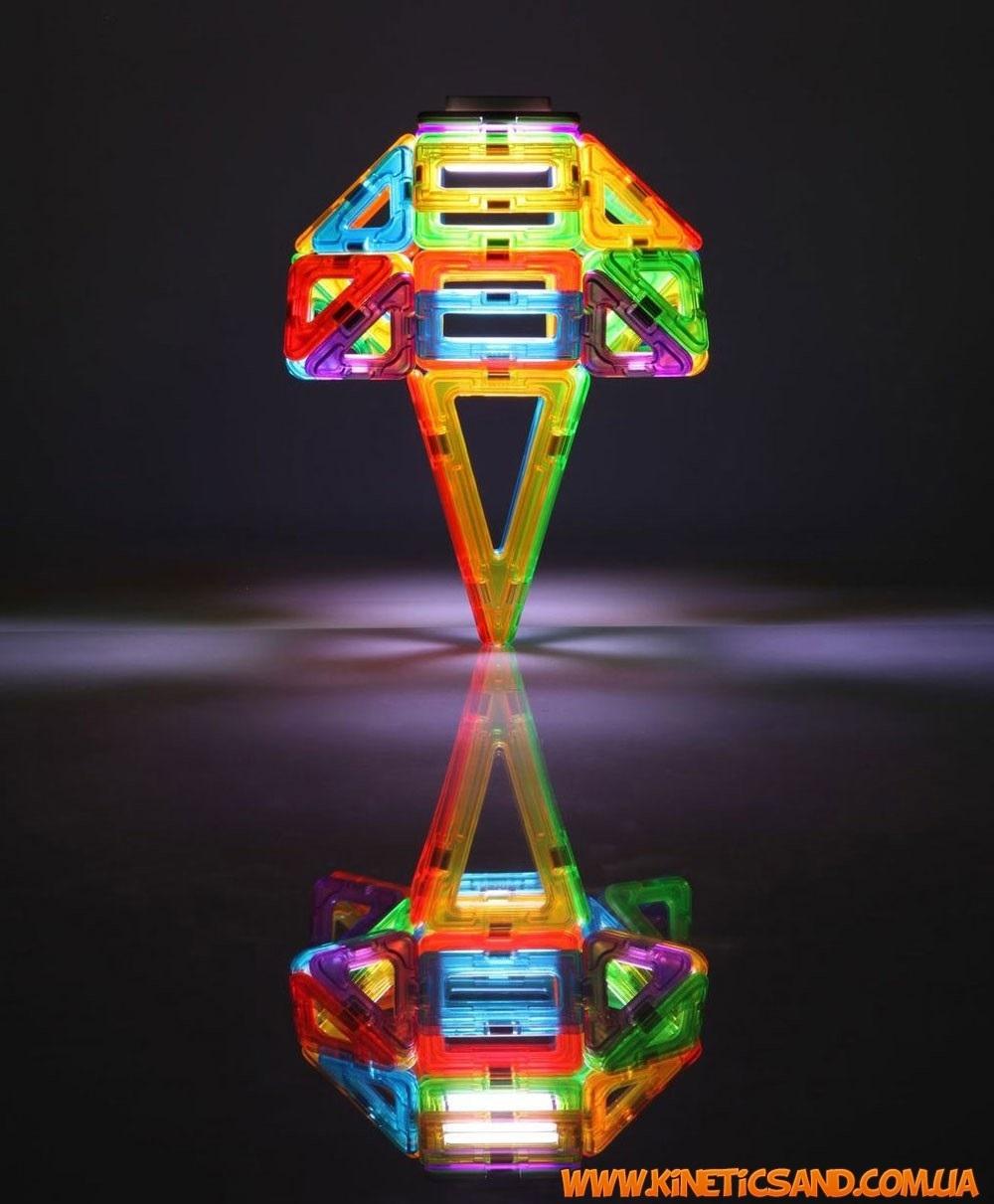 Magformers Набор с LED подсветкой, 55 элементов