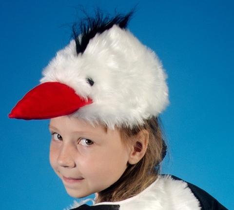 Карнавальная шапочка Аист