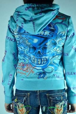 Цветная кожаная куртка Ed Hardy