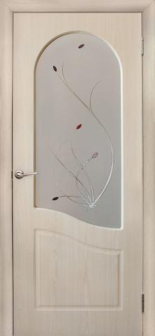 Дверь Дубрава Сибирь Анастасия, цвет беленый дуб, остекленная