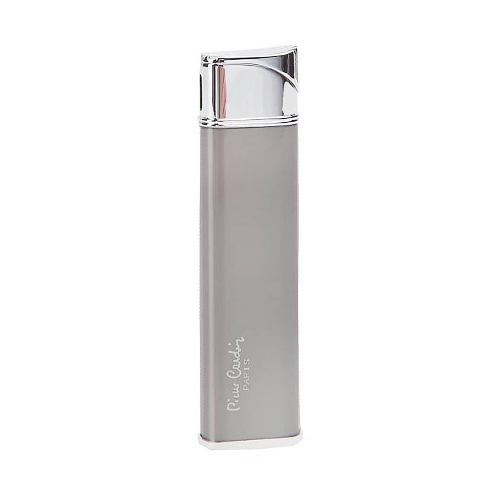 Зажигалка Pierre Cardin кремниевая газовая пьезо, цвет хром/темная бронза, матовая, 2,1х1,1х8,4см
