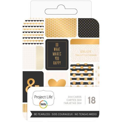 Набор карточек  для Project life 18 шт- Be Fearless