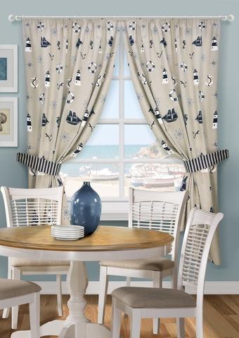 Комплект штор на тесьме Нептун для кухни