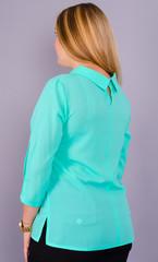 Кортни. Нежная женская блузка больших размеров. Мята.