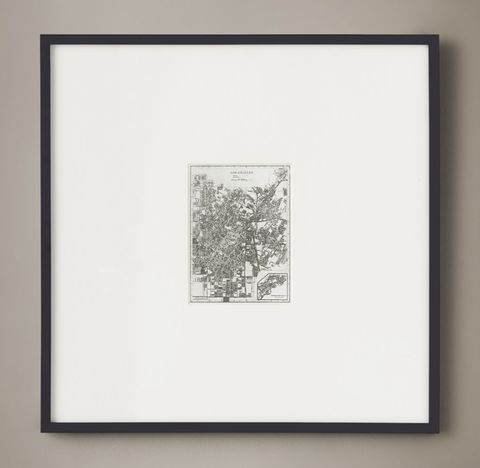 Christopher Wilcox: C. 1900 Metallic Leaf City Maps - Los Angeles Silver