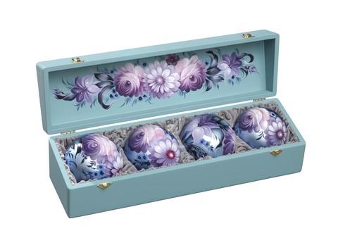 套装球:带彩绘盖子的锦盒里有4个球 SET04D-667785831