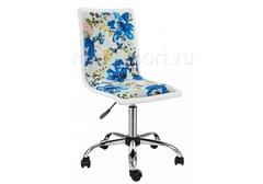 Компьютерное кресло Мис (Mis) white / flowers fabric
