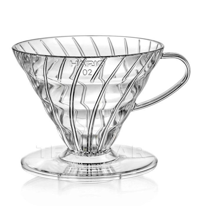 Кофейные аксессуары Воронка Hario 60, VD-02T, пластиковая для приготовления кофе, прозрачная Hario_V60-VD-02t1.jpg