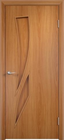 Дверь Сибирь Профиль Стрелиция (С-2), цвет миланский орех, глухая