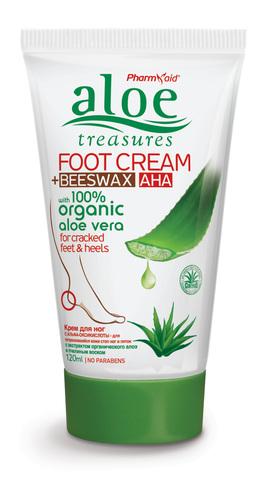 Восстанавливающий крем для потрескавшейся кожи ног и пяток Aloe Treasures 120 мл