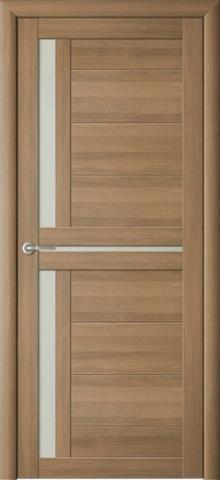 Дверь Фрегат ALBERO Кельн, стекло матовое, цвет кипарис янтарный, остекленная
