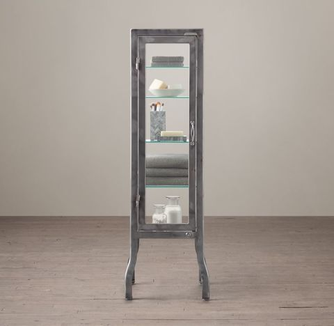 Pharmacy Small Bath Cabinet - Burnished Steel