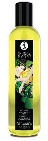Съедобное массажное масло SHUNGA, Organica с ароматом зеленого чая (250 мл)