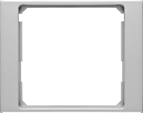 Рамка на 1 пост промежуточная 50 x 50 мм. Цвет Алюминий. Berker (Беркер). K.5. 11087003