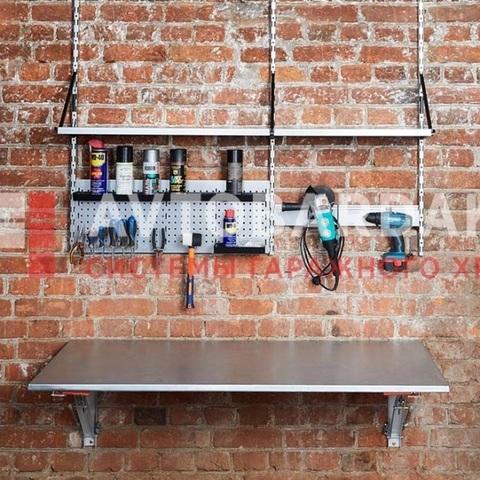 Откидной стол в гараж Длина 1200 мм, глубина 600 мм