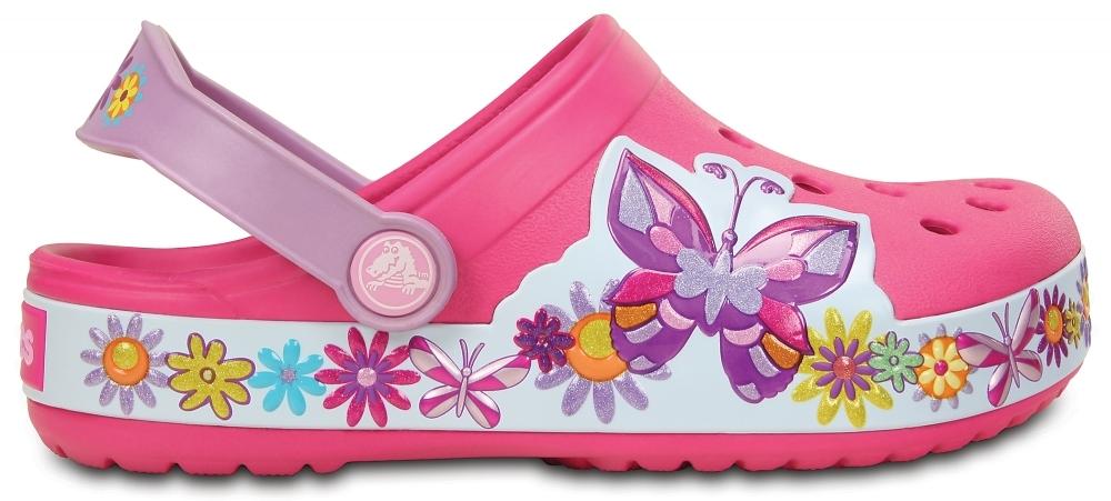 Сабо для девочек CROCS Crocband Butterfly Clog Kids Candy Pink