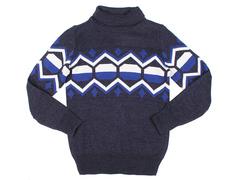BSW000789 свитер детский, синий меланж