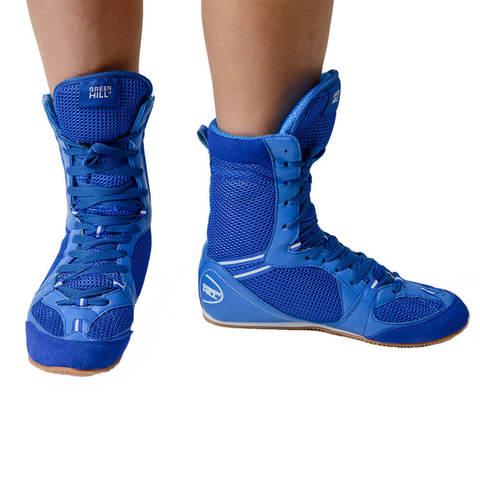 Обувь для бокса высокая Green Hill