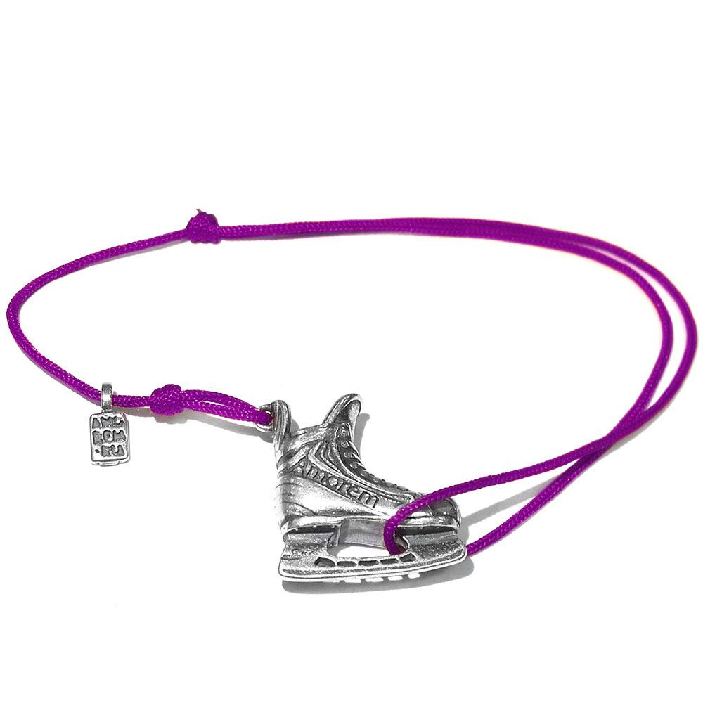 Ice skating bracelet, sterling silver