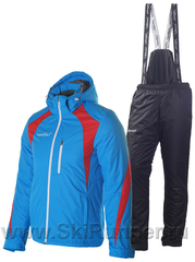 Утеплённый прогулочный лыжный костюм Nordski Active blue-black мужской