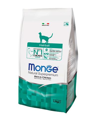 Monge Cat Hairball корм для кошек для выведения шерсти 1,5 кг