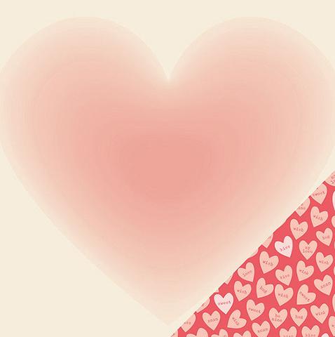 "Лист двусторонней бумаги  30 х30 см из коллекции  ""Kiss Kiss"" by Crate Paper"