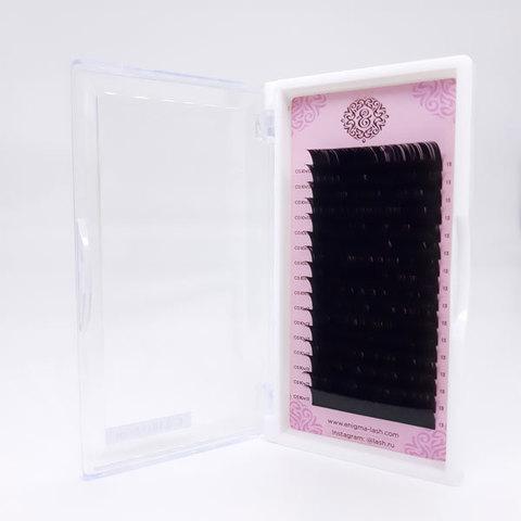 Ресницы черные Enigma, изгиб С (16 линий)