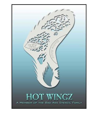 Трафарет Hot wings 8002
