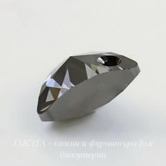 6628 Подвеска Сваровски Треугольник Crystal Silver Night (12 мм)