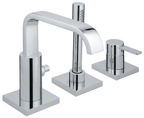Allure Смеситель однорычный для ванны на 3 отверстия, комплект верхней монтажной части