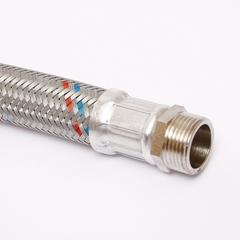 Гибкая подводка для воды UNI-FITT НВ 1 с угловым отводом 80 см оплетка из нержавеющей стали антивибрационная
