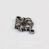 """Винтажный декоративный элемент - коннектор """"Цветочек"""" (1-1) 11х8 мм (оксид серебра) (темные)"""