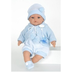JUAN ANTONIO munecas Кукла Берни в голубом, плачет (1666B)