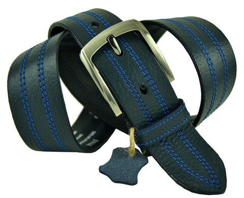 Ремень мужской синий джинсовый 40SVAR-p-011