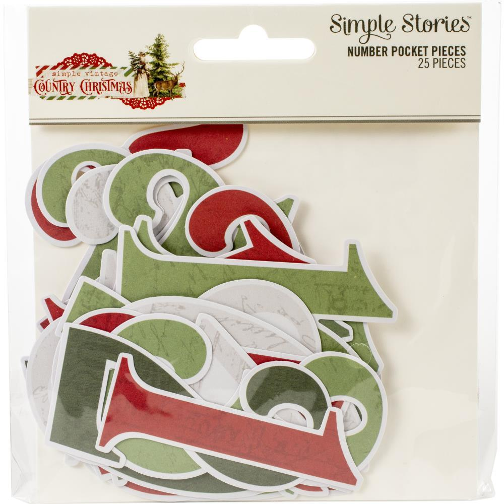 Высечки Country Christmas Cardstock Die-Cuts-Numbers