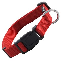 Triol Ошейник нейлоновый для собак Стандарт М, красный, 20*340-490 мм