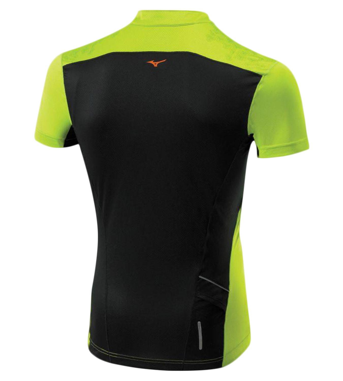 Мужская беговая футболка Mizuno DryLite Hex Tee (J2GA4007 37) lime фото
