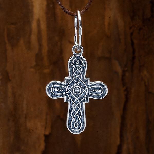 Крестик православный. Распятие. Спаси сохрани.