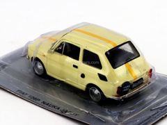Fiat 126P Nauka Jazdy cream white-yellow 1:43 DeAgostini Kultowe Auta PRL-u
