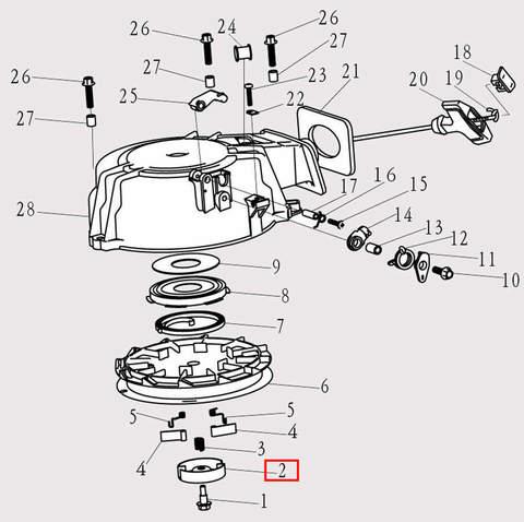 Тарелка для лодочного мотора F9.8 Sea-PRO (8-2)
