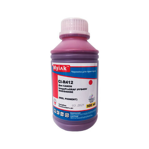 Чернила для CANON PFI-706 imagePROGRAF iPF9400/9400S/8400/8400S. 500 мл, red, Pigment MyInk CE706M