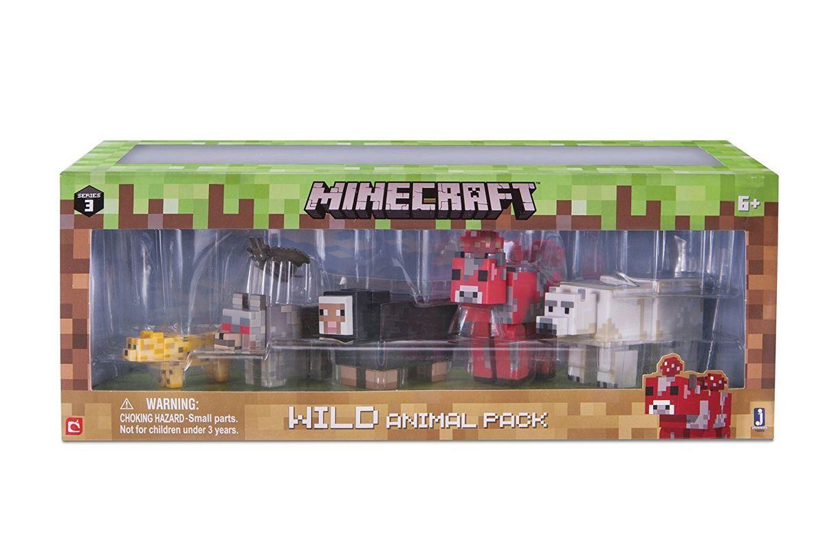 Набор фигурок Minecraft Wild animal Дикие животные 6шт