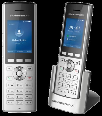 Grandstream WP820 - WiFi телефон. 2 SIP аккаунта, 2 линии, цветной дисплей, USB, Bluetooth