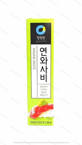 Корейский васаби (хрен столовый) Wasabi paste, 35 гр.