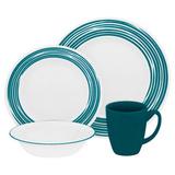 Набор посуды Brushed Turquoise 16 пр, артикул 1117023, производитель - Corelle