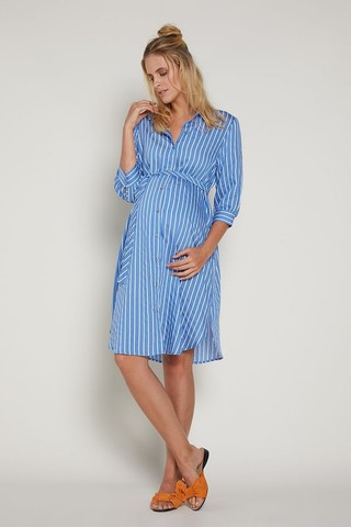 Платье 09378 голубой