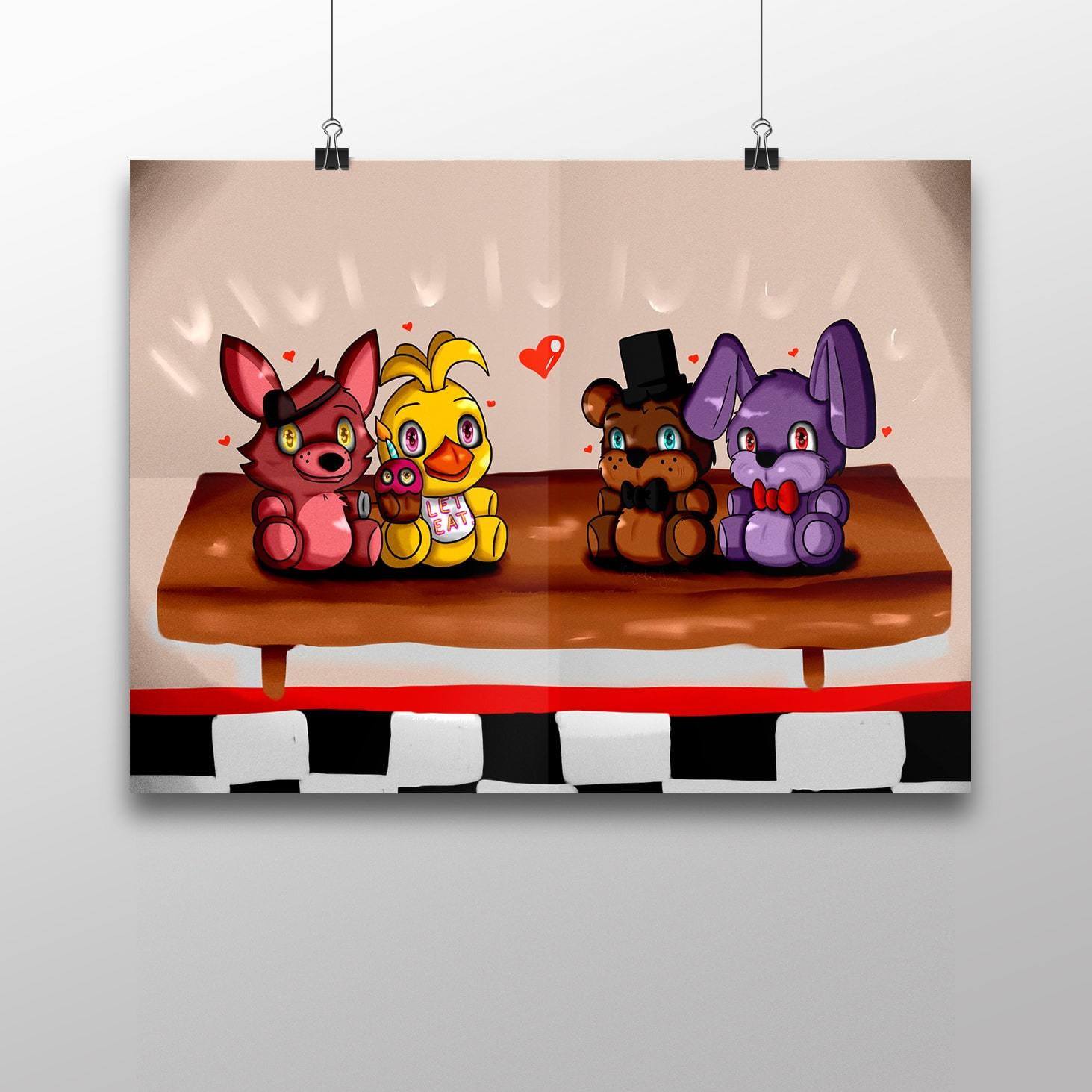 Плакат с героями ФНАФ №4 - купить в интернет-магазине kinoshop24.ru