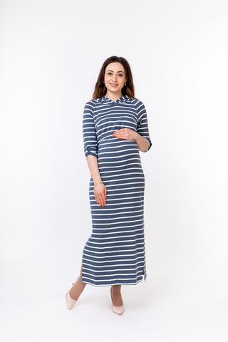 Платье для беременных и кормящих 10249 синий
