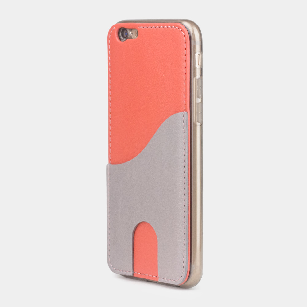 Чехол-накладка Andre для iPhone 6/6s Plus из натуральной кожи теленка, кораллового цвета