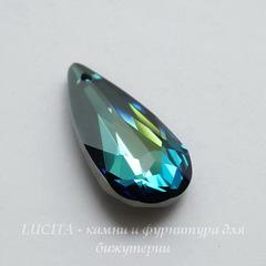 6100 Подвеска Сваровски Капля Crystal Bermuda Blue (24х12 мм)